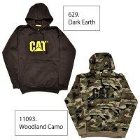 キャット【CAT】CATERPILLARキャタピラーTrademarkHoodedSweatshirtW10646メンズパーカーロゴプルオーバーフード長袖トップス裏起毛ワークストリート人気【あす楽】