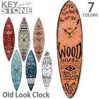キーストーン【KEYSTONE】オールドルッククロック時計掛け時計置き時計ヴィンテージレトロサーフィンボードおしゃれOLLCSU4COLOR【あす楽】