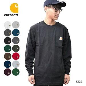 カーハート【carhartt】K126 メンズ トップス ロンT Long Sleeve Workwear Pocket T-Shirt USサイズ ブルー チャコール ネイビー ブラック グリーン アッシュ クルーネック ポケット 長袖Tシャツ 【あす楽】1点のみネコポス発送可