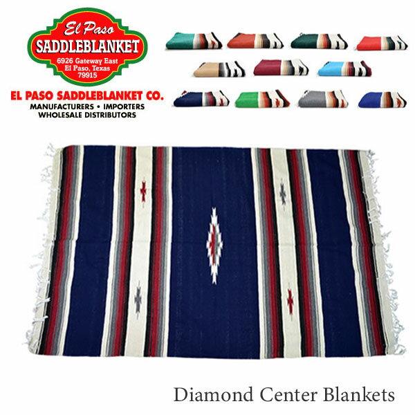エルパソサドルブランケット【el paso saddleblanket】Diamond Center Blankets ブランケット ラグ アウトドア インテリア ネイティブ柄 アジアン雑貨 ネイティブ柄 10Color【あす楽】