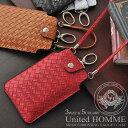 United HOMME(ユナイテッドオム)イントレチャート3wayスマートフォンケース DEL-L05