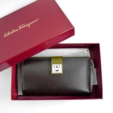 SalvatoreFerragamoサルヴァトーレフェラガモバイカラー二つ折り財布財布【中古】