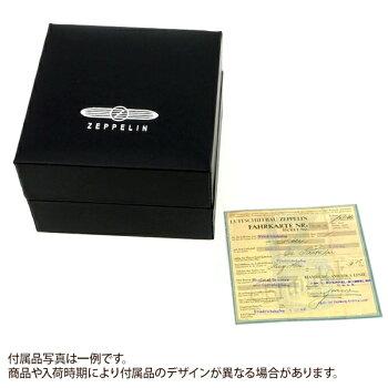 ツェッペリンメンズ腕時計100周年記念モデルクロノグラフ42mmシルバー×ブラウン7680-1N【ブランド】