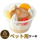誕生日ケーキ バースデーケーキ 犬用 ワンちゃん用 贅沢プリンパフェ ペットケーキ ジャペル