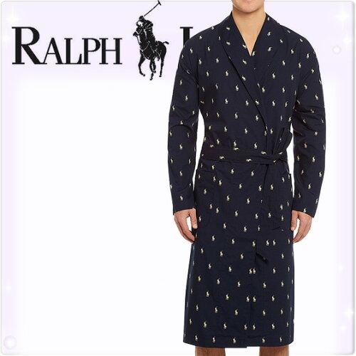 POLO RALPH LAUREN ポロ ラルフローレン コットン バスローブ メンズ ポロプレイヤー[ネイビー(紺...
