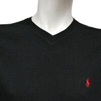 POLORALPHLAURENポロラルフローレンメンズサーマルVネック長袖Tシャツ3色展開[黒赤ダークグレー][ポロ・ラルフローレンラルフローレンtシャツ下着インナーサーマルシャツサーマルロンtワッフル]大きいサイズ[5,400円以上で送料無料][P721]ブランド