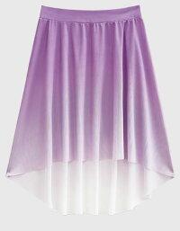 バレエプルオングラデーションスカート大人フィッシュテールエレガントかっこいいブラックパープルグリーンブルーミント