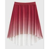 バレエプルオングラデーションスカート大人フィッシュテールエレガントかっこいいブラックパープルグリーンミントワインレッド