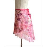 【6柄】バレエスカートジュニア大人トゥリーナラップスカート(クラシックタイプ)後ろが長いフィッシュテール巻きスカート花柄エレガントおしゃれレッスン