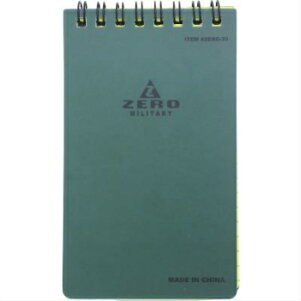 【ZERO/ゼロ】WeatherproofNotebook3×5ウェザープルーフノートブック3×5[防水ノート]