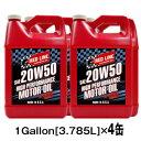 【送料無料】REDLINE [レッドライン] エンジンオイル 20W501Gallon[3.785L]×4缶セットAPI:SM/CF、ACEA:A3 20W50-ROMO4100