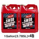 【送料無料】REDLINE [レッドライン] エンジンオイル 5W301Gallon[3.785L]×4缶セットAPI:SM/CF、ACEA:A1/B3/B4 5W30-ROMO4020