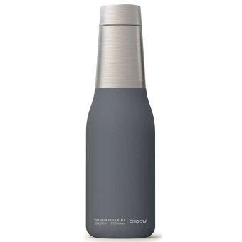 水筒 asobu ファッションボトル OASIS 600ml ステンレスボトル 直飲み 保温保冷 真空断熱 ドリンクボトル アソブ アソブボトル オアシス グレー