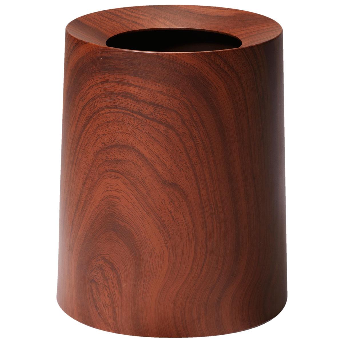 ゴミ箱 ideaco TUBELOR HOMME 木目調 ウッド調 リビングに最適! ダストボックス ごみ箱 イデアコ チューブラーオム ローズウッド