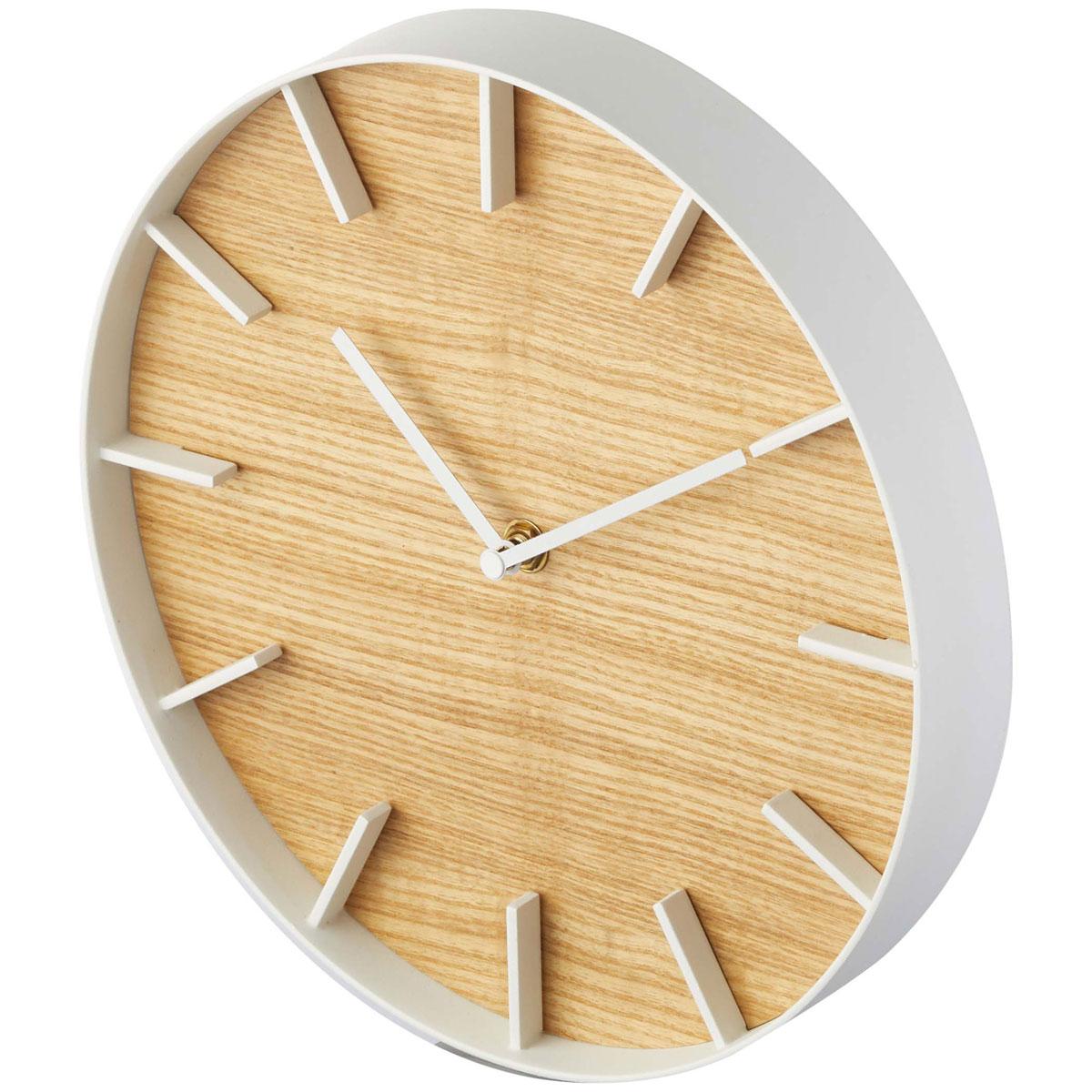 掛け時計 山崎実業 RIN ウォールクロック 壁掛け時計 時計 掛時計 YAMAZAKI リン ナチュラル