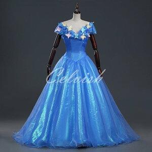 cd9c9a154c660 シンデレラ 風 ドレス ディズニー ハロウィン コスプレ ドレス プリンセスドレス コスプレ衣装 パーティー cl-2923D019