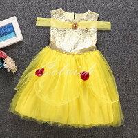 ディズニーハロウィンコスプレドレス美女と野獣ベル風プリンセスドレス子供ドレス衣装コスプレC-28546009