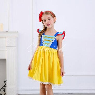 スノーホワイト 風 白雪姫 プリンセスドレス コスプレ ドレス 子供 ドレス 衣装 仮装 c-30650E55