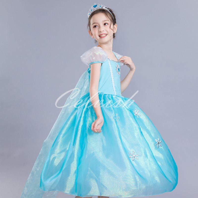 子供 プリンセスドレス エルサ c,30580334 コスプレ ドレス 風