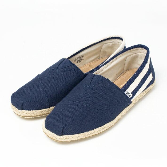 【TOMSトムスユニセックス】STRIPEUNIVERSITYCLASSICS,Navytoms,classics,navystripe靴シューズメンズ