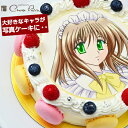 写真ケーキ シェリーブラン マカロン キャラクター写真ケーキ バースデーケーキ≪2〜3