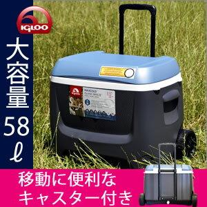 【送料無料☆】IGLOOイグルー/イグローMAXCOLDマックスコールドプレミアムキャスター付きクーラーボックス62QT/58L