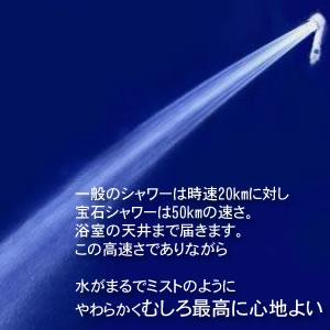 宝石シャワーjewelshower天使のマッサージシャワーヘッド節水マイナスイオンヘッドスパ沐浴セラミックス配合皮脂汚れオムコ東日本