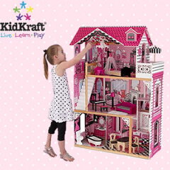 長く遊べる!バービー人形、リカちゃん人形にも!家具付 KIDKRAFT キッドクラフト アメリアド...