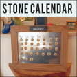 【送料無料☆】spice スパイス ストーンカレンダー 木製カレンダー お部屋に合わせて♪ エコカレンダー 立てかけ 壁掛け スケジュール管理 お部屋に合わせて♪
