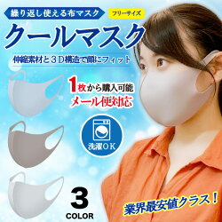 【個別包装タイプ】クールマスク1枚飛沫対策花粉対策使い捨て普通サイズ【ゆうメール便対応可能商品】