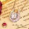 【送料無料】リズホースシューネックレス【LizHorseShoe】【Necklace首飾り】【Diamond】【ダイヤモンドジュエリーjewelry】【ラウンドカット】【楽ギフ_包装】【楽ギフ_メッセ入力】誕生日結婚記念日プレゼント