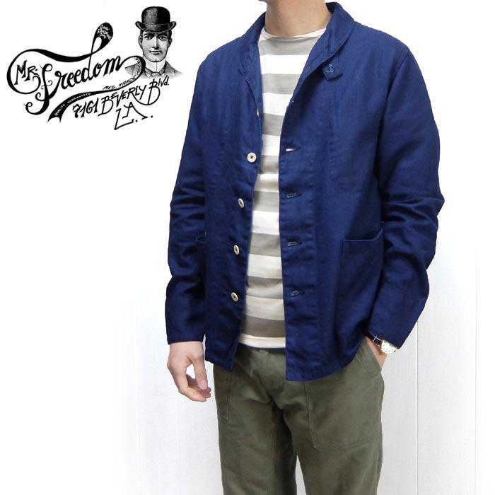 メンズファッション, コート・ジャケット SUGAR CANEMr.FREEDOM SC14593 SURPLUS COLLECTION 7.7oz. LC 6040 INDIGO HBT DOCKYARD JACKET