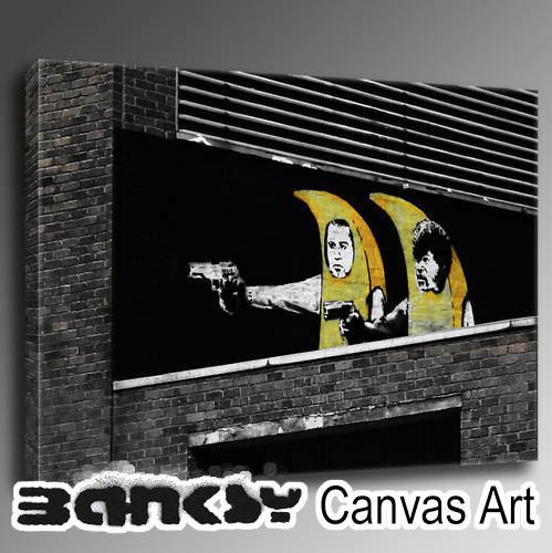 バンクシー 壁掛け アート アートパネル アートフレーム 【送料無料】BANKSY CANVAS ART バンクシー Pulp Fiction Banana 4 91.0 x 61.0 絵画 絵 アート キャンバス キャンバスアート ウッド ロンドン グラフィティアート 路上 風刺 bpfb491 プレゼント ギフト バンクシー Banksy グラフィティ 壁掛けインテリア アート アートパネル