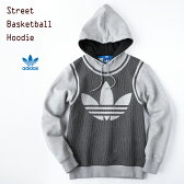 【30%OFFセール】[アディダス オリジナルス] ストリート バスケットボール フーディー [ミディアムグレイヘザー]adidas Originals STREET BB HOODIE MHV93 スウェット パーカー YH