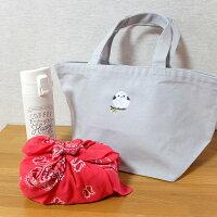 トートバッグシマエナガ刺繍レディースキャンバスランチバッグ綿100%【送料無料】