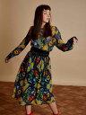 【SALE40%】【2018S/S新作】 GHOSPELL ゴスペル When in Rome Midi Dress ワンピース ロング プリント【メール便不可】【正規品】【あす楽対応】