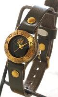 """渡辺工房手作り腕時計""""StrapLady-B-SUN&MOON""""レディースブラスカラーダイヤル[NW-289SM-COL]"""