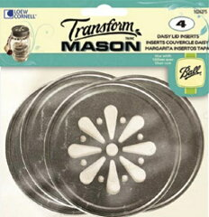 BALL デイジーフタ メイソンジャーレギュラーマウス用 4個入 Mason Jar Daisy Lid Inserts for ...