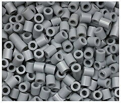 Iron BEADS パーラービーズと同じ5mmサイズアイロンビーズ 単色袋入りビーズ [グレー] 約1000個