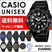 CASIO カシオ 腕時計チープカシオMRW200HシリーズMRW200HCシリーズ100M防水スポーツウオッチメンズ/レディースユニセックス腕時計【あす楽】ラッピング無料送料無料(一部地域除く)