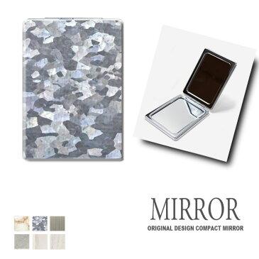ミラー 鏡 折りたたみ [マテリアル] 卓上ミラー 化粧鏡 かがみ コンパクトミラー かわいい メイク用 拡大鏡 拡大 両面 角型 ズーム 素材 おしゃれ