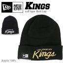 【メール便可】NEW ERA ニューエラ カフ ニットキャップ 【KINGS】 CUFF KNIT CAP LOS ANGELES ロサンゼルスキングス ニット帽 帽子 メンズ 登山ガール 雪山 通勤 通学