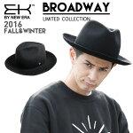 【送料無料】EKBYNEWERAニューエラハット【ブロードウェイ】BROADWAY中折れウールWOOLブラックイーケーバイニューエラ帽子メンズレディース大きいサイズ男女兼用