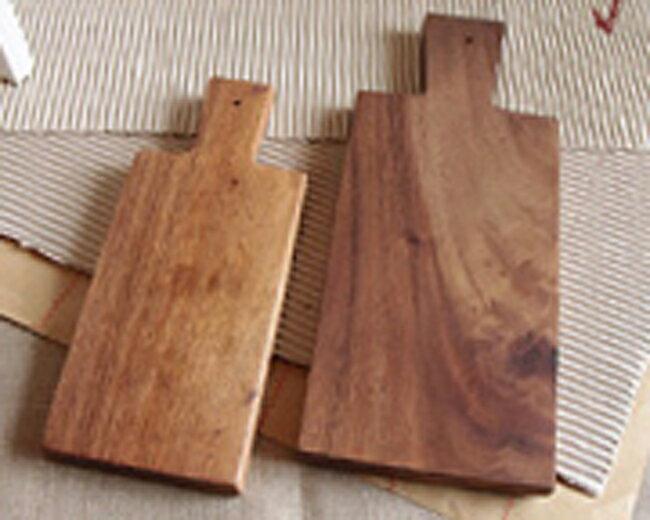 ナチュラルアカシア材製カッティングボード【Sサイズ】(まな板/トレイ)(返品・交換不可)