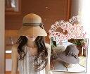 ボーダーリボン・キャベリン・ハット(帽子)