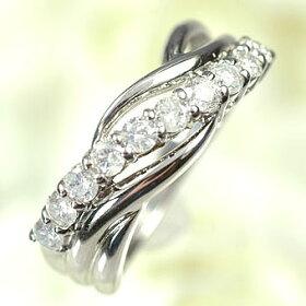 プラチナ・ダイヤモンド0.5ctスウィートテンリング