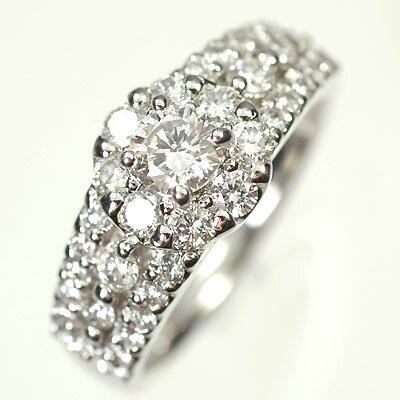 婚約指輪 プラチナ ダイヤモンド リング プラチナ・ダイヤモンド1.0ct(Hカラー・SI・GOOD・0.3ct・鑑定書付+0.7ct) ロイヤルリング(指輪) ダイヤモンド指輪