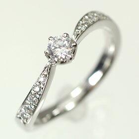 婚約指輪 プラチナ・ダイヤモンド0.2ct(H・SI・GOOD・鑑定書付) エンゲージリング(婚約指輪)  送料無料 【天然ダイヤモンド・婚約指輪(エンゲージリング)】