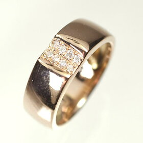 【ピンクゴールド】K18PG・ダイヤモンド0.05ctピンキーリング(指輪)