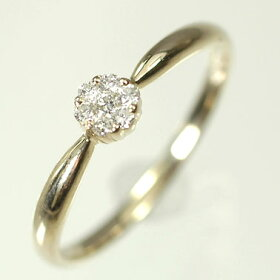 K10YG・ダイヤモンド0.10ctフラワーリング(指輪)